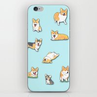 corgi iPhone & iPod Skins featuring Corgi by okayleigh