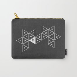 Unrolled D20 Carry-All Pouch