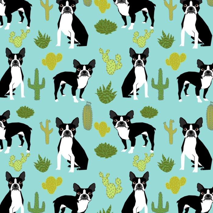 Boston Terrier cactus desert southwest baby mint dog art boston terrier owners pet portraits furbey  Leggings