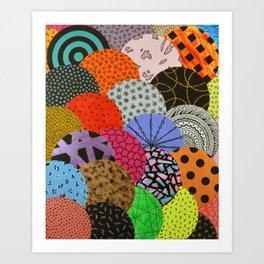 bubbling over Art Print