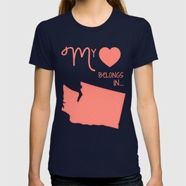 My Heart Belongs in Washington T-shirt
