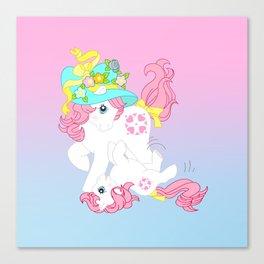 g1 my little pony Sundance and baby Canvas Print