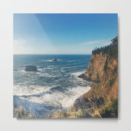 The Sunny Oregon Coast Metal Print