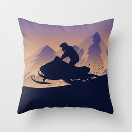 Snowmobile • My Passion Throw Pillow