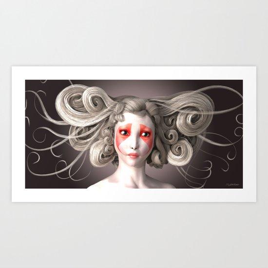 Japanese fashion model Art Print