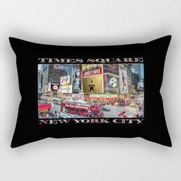 Times Square II (widescreen on black) Rectangular Pillow