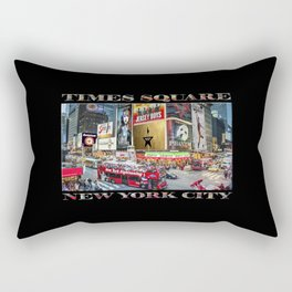 Times Square II (widescreen on black) Rectangular Pillow