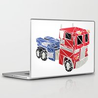 optimus prime Laptop & iPad Skins featuring The Optimus Prime by Josh Ln
