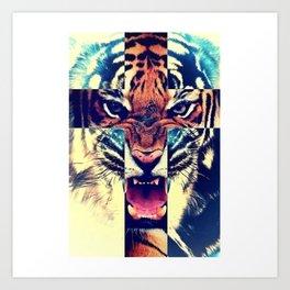 CROSS + TIGER Art Print