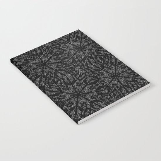 Slate Gray Black Pattern Notebook