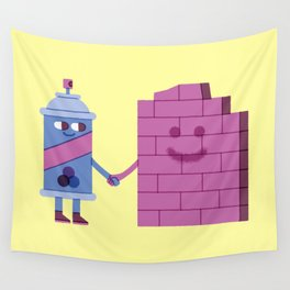 SBF: SprayCan & Wall Wall Tapestry