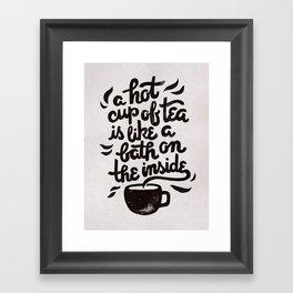Hot Tea Framed Art Print