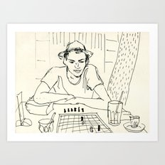 Chess player Art Print