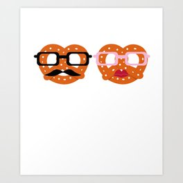 Oktoberfest Pretzel Boobs Funny Art Print