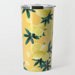 Lemon Twist Vibes #3 #tropical #fruit #decor #art #society6 Travel Mug
