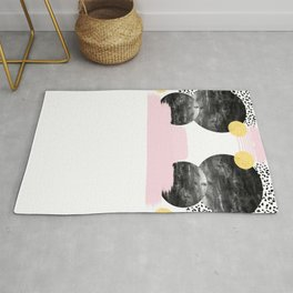 Roussel - pink pastel girly hipster trendy art decor dorm college brooklyn abstract minimal painting Rug