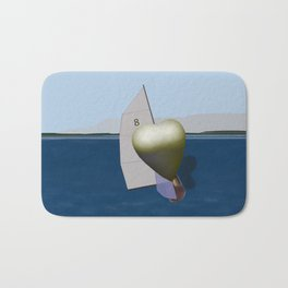 May: a Heart Soaring in the Bay - shoes story Bath Mat
