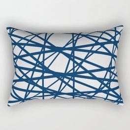 Criss Cross Lines Rectangular Pillow