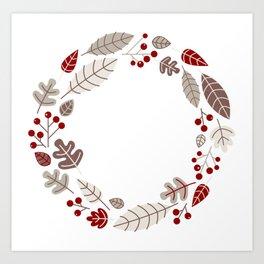 New! Christmas wreath / Product designs Art Print