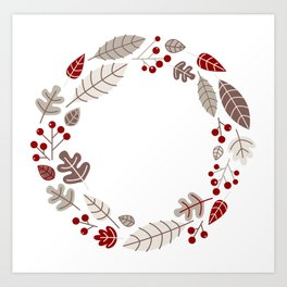 New! Christmas wreath / Product designs Art Print