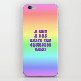Hug a Day (Purple on Rainbow) iPhone Skin