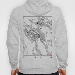 Zurich Schwarzplan Map Only Buildings Hoody