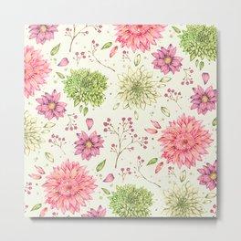 Pastel Florals Metal Print