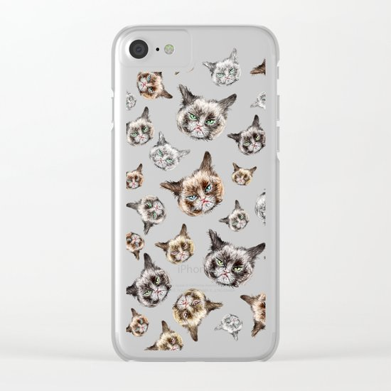 Cat Power Clear iPhone Case