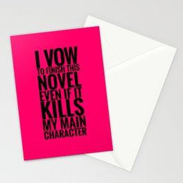 I Vow to Finish - Pink Stationery Cards