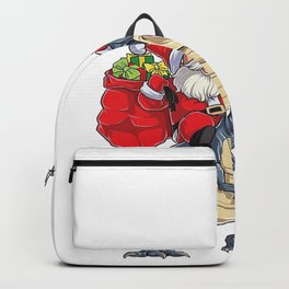 Santa Riding Dinosaurus Backpack