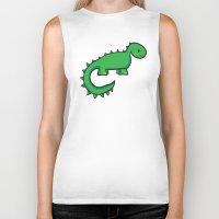 dinosaur Biker Tanks featuring Dinosaur by Chloe Meister