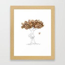 Pencil shavings tree Framed Art Print