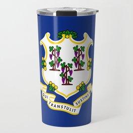 flag Connecticut,america,us,new England,constitution,Connecticuter,Yale,Nutmegger,Hartford Travel Mug
