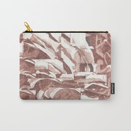 Fractured Flora Dusty Rose Carry-All Pouch