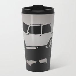 Saab 99 EMS, Gray on Black Travel Mug