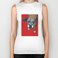 lucy Biker Tanks featuring Lucy by Pawblo Picasso