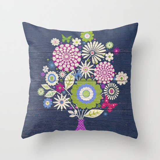 Butterfly Bouquet Throw Pillow by Steve Haskamp Society6