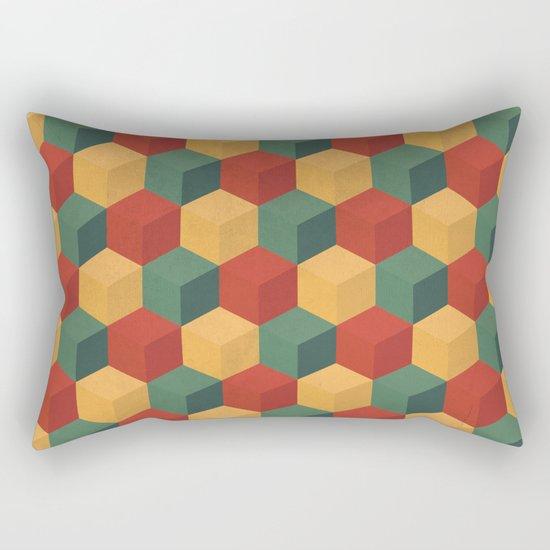 Retro Cubic Rectangular Pillow