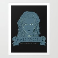 bad wolf Art Prints featuring Bad Wolf by Amdy Design