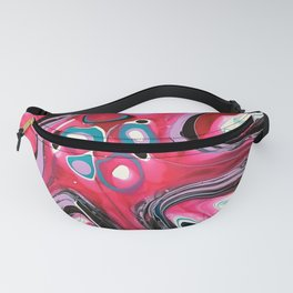 Ker-Pow, an abstract fluid artwork by Sharon Perry Fanny Pack