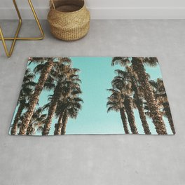 Palm Tree Days {1 of 2} Tropical Cali Art Print Rug