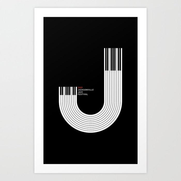 Jacksonville Jazz Festival Poster Art Print