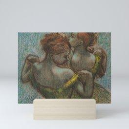 """Edgar Degas """"Two dancers - half-length"""" Mini Art Print"""