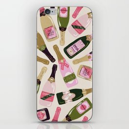 French Champagne Collection – Pink & Green iPhone Skin