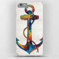 Nautical Anchor Art - Anchors Aweigh - By Sharon Cummings Slim Case iPhone 6 Plus