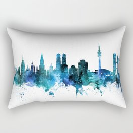 Munich Germany Skyline Rectangular Pillow