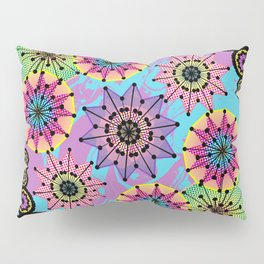 Vibrant Abstract Floral Pattern Pillow Sham
