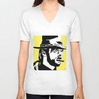 clint barton V-neck T-shirts featuring Clint by Gary Barling
