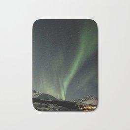 Northern Light Show Natural Fireworks Photo | Aurora Borealis Norway Art Print | Travel Photography Bath Mat