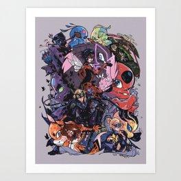 Miraculous Ladybug Timeskip Art Print